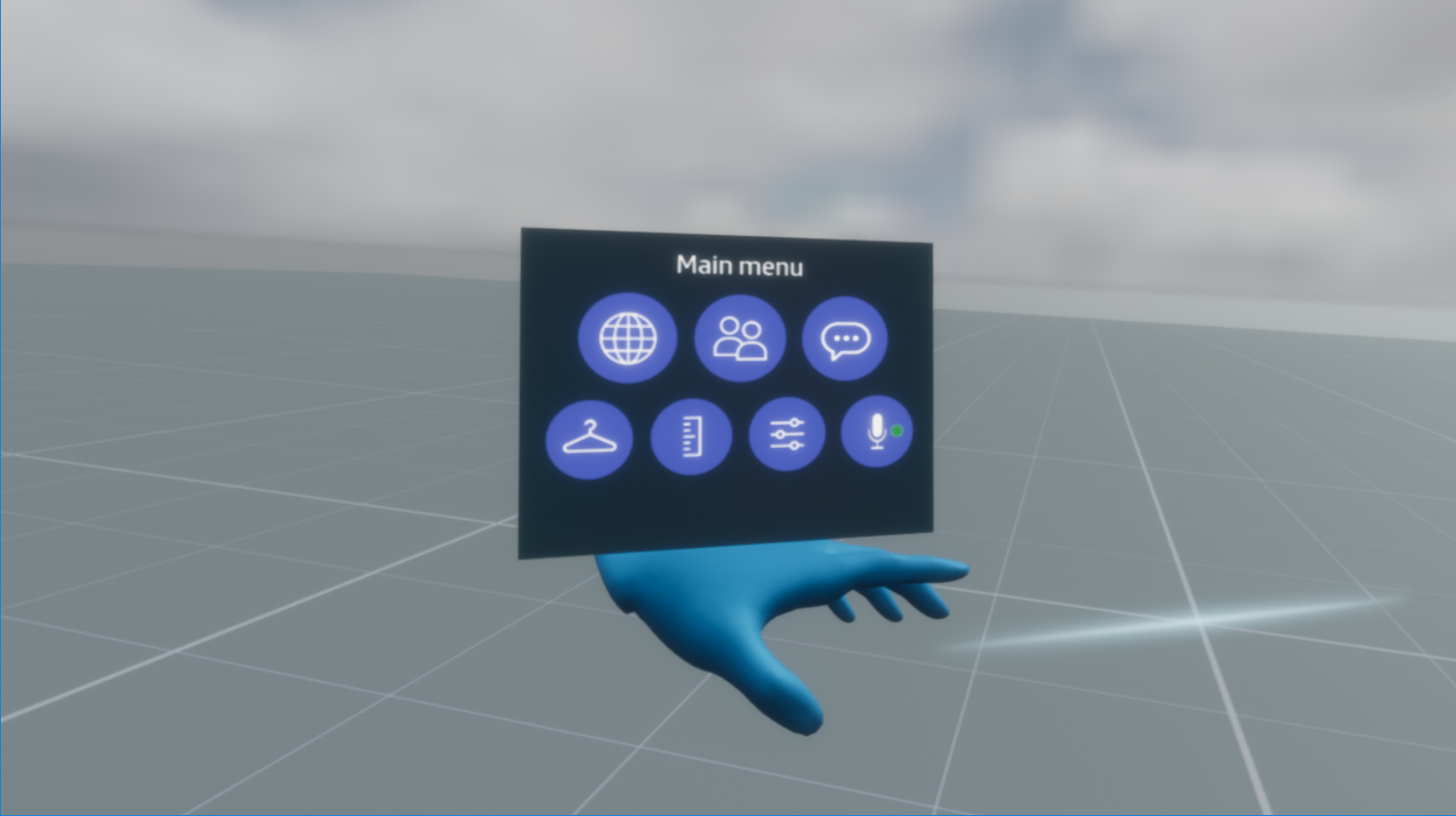 The main menu – Sansar | Help - Support, Community Forums, and